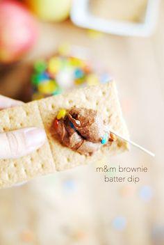 M&M Brownie Batter Dip   www.somethingswanky.com