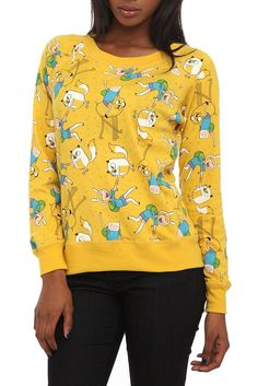 Adventure Time Reversible Pullover Raglan Top