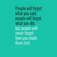 I do believe our feelings are our own responsibility. Yet, we make a choice to invite people to feel a certain way. Remembering this as we click here and there on social media feels very important to me.