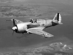 Curtiss XP-42  April 13, 1945 - Langley Research Center - Highly modified Curtis P-36A