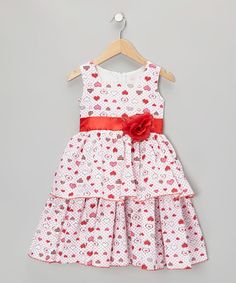 Take a look at this Red Heart Dress - Infant, Toddler & Girls by Kid Fashion on #zulily today!