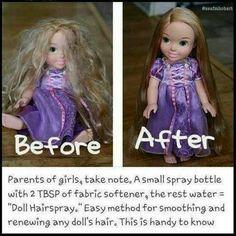 diy doll hair detangler, diy detangler