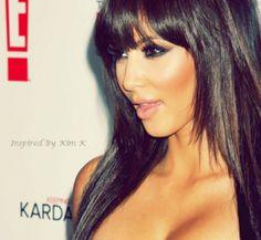 Kim Kardashian - Blunt Hair Bangs on Instagram