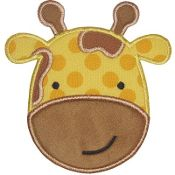 Cute Giraffe Applique Embroidered Patch