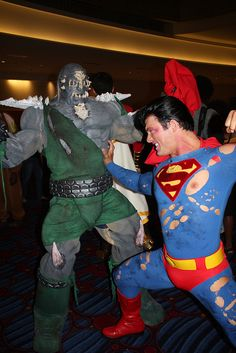 Doomsday and Superman.