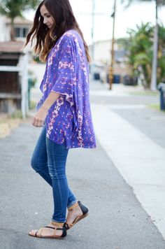 First sewing project!! DIY This Pretty Kimono in Less Than 30 Minutes!