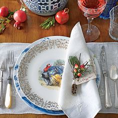 Tried & True Thanksgiving Table Setting | Incorporate family pieces into your setting for a sentimental mix. | SouthernLiving.com