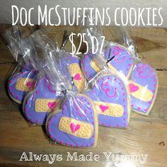 doc mcstuffins cookies, mcstuffin cooki