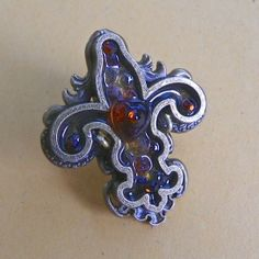 Spellbinders Statement Fleur de Lis Ring by Lisa Fulmer for Cool2Craft.com #cre8time
