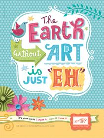 The Earth......... thing paper, happi thing, cardspap art