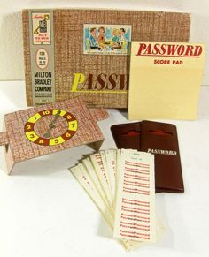 vintage game - Password - Milton Bradley - family game - 1960s, also have this one too!