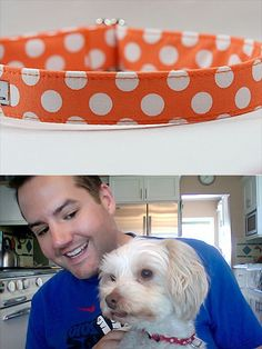Clementine Collar, $21.95 at Fido's Fashion Collars (As modeled on Ross Mathew's pup Louise!)