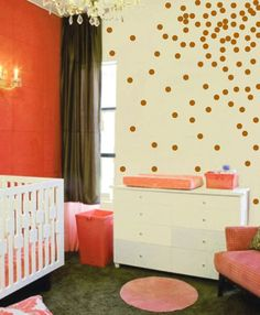 Confetti Polka Dot Wall Sticker Decal - Circles Wall Decal - Vinyl Sticker Polka Dots - Modern Nursery - CN121 $33