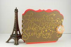 Laughter sparkles like sunshine card