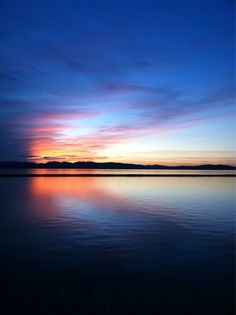 Sunset on Lake Champlain in Burlington, Vermont