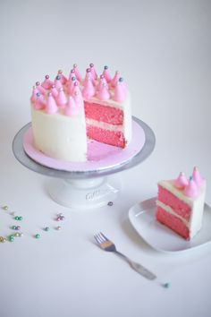 Pink party cake tutorial