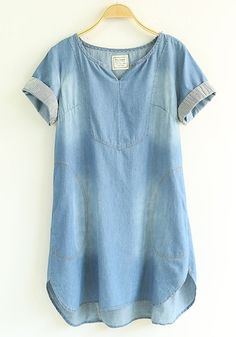 Blue Plain Denim Dre