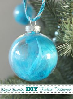 The Happy Housie - Simple Stunning DIY Feather Ornaments