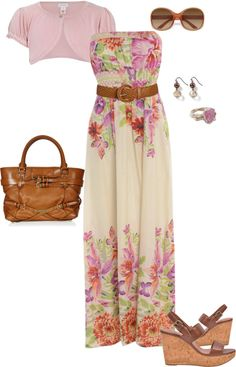 """Lavender and Brown"" by fun-to-wear on Polyvore"