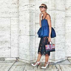 Natalie Joo wearing the Jimmy Choo Maiden pump at New York Fashion Week