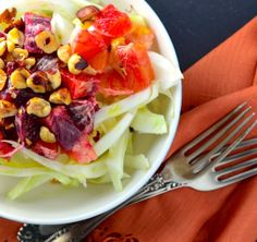 blood orange fennel salad with hazelnuts  [ ItsMyMitzvah.com ] #food #celebrate #personalized #style
