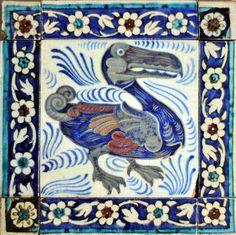Dodo bird tile by William de Morgan