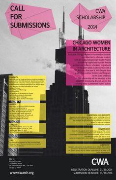 Chicago Women in Architecture Scholarship #Scholarships #Women