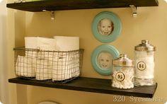 functional bathroom shelf