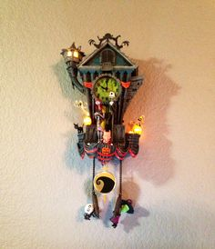 My new Nightmare Before Christmas Cuckoo Clock Go to my IG to see the ...