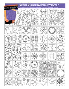Quiltmaker's Quilting Designs Volume 7 | Products | The Electric Quilt Company
