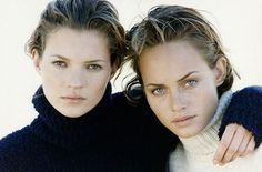 Kate Moss & Amber Valletta by Peter Lindbergh - In the 1990s