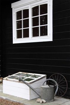Cold frame made from an old window.