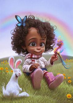 OHHHHH!!!! little girls, 2d art, 3d character, concept art, character illustration, illustrations, tiago hoisel, illustration art, tiagohoisel