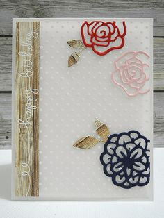 Floral Birthday Card by Jennifer Ingle