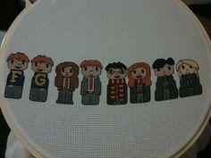 Cross-stitch Dumbledore's Army.