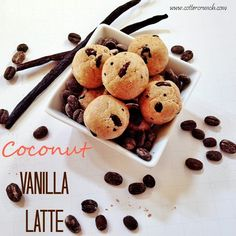 coconut vanilla latte Healthy Bites bites