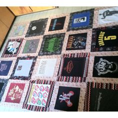Here, I'm doing a happy dance because all 24 squares were done and I got to lay them out on my kitchen floor...