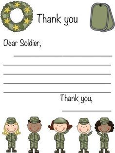 Kids Letters To Soldiers Template