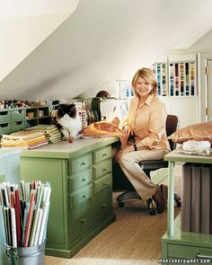 Martha Stewart's craft room
