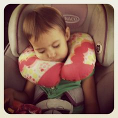 Free Sewing Patterns: Child Travel Pillow + Child Size Apron + Children's Fabric Book. I wish I'd had this pillow when my girls were little, I hated seeing their necks cranked sideways sleeping in the car.