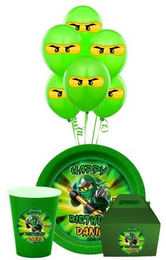 Lego Ninjago Birthday Party Package Ninjago Party by SDBDIRECT