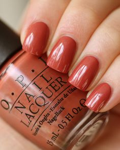 "OPI Germany Collection ""Schnapps Out of It"" Fantastic Fall Color!"