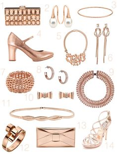Rose Gold Wedding Accessories wedding accessories, gold weddings