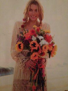 wedding dressses, wedding ideas, sunflowers, dresses, bouquets, the dress, beach weddings, boho, bohemian