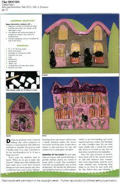 ceramic houses lesson