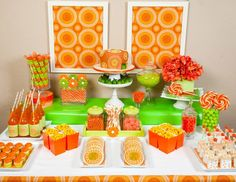 orange + lime green