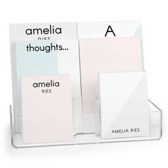 Personalized Color Block Notepad Collection