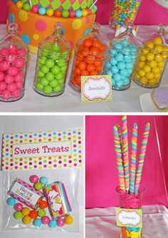 Candy Shoppe Party from Cupcake Express #parties #party #sweettreats #partyfavors #favors