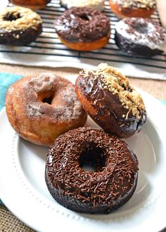 Baked Buttermilk and Double Chocolate Doughnuts {National Doughnut Day Giveaway with King Arthur Flour}