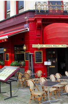 Sidewalk Cafe - Antwerp, Belgium - Photo